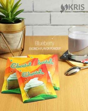 Bubuk minuman blueberry kemasan 25 gr Ekorich