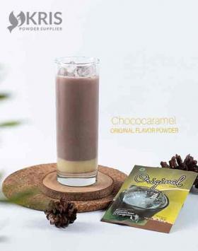 Bubuk minuman chococaramel kemasan 25 gr Original