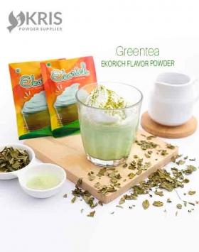 Bubuk minuman greentea kemasan 25 gr Ekorich