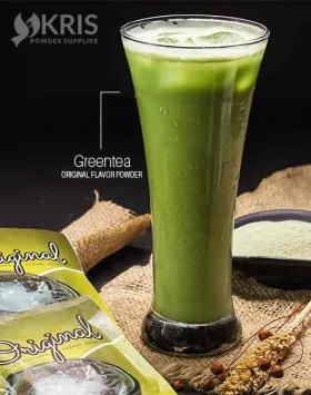 Bubuk minuman greentea kemasan 25 gr Original