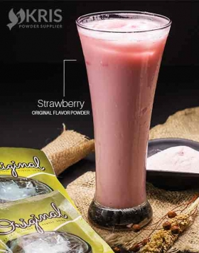 Bubuk minuman strawberry kemasan 25 gr Original