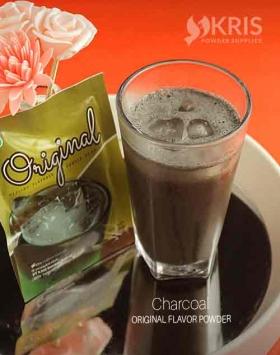 Bubuk minuman charcoal kemasan 25 gr Original