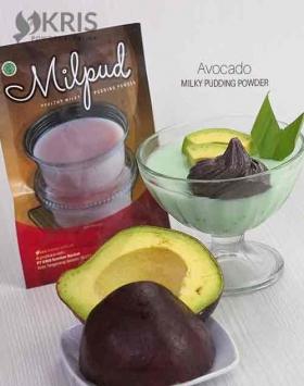 Bubuk pudding avocado kemasan 75 gr Milpud