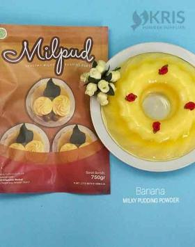 Bubuk pudding banana kemasan 750 gr Milpud