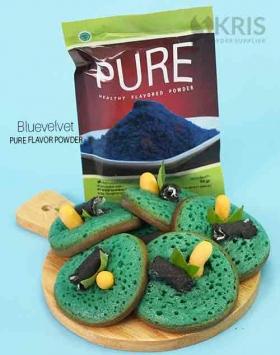 Bubuk perisa bluevelvet kemasan 50 gr Pure