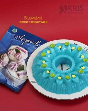 Bubuk pudding bluevelvet kemasan 900 gr Inpud