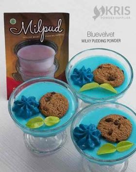 Bubuk pudding bluevelvet kemasan 75 gr Milpud