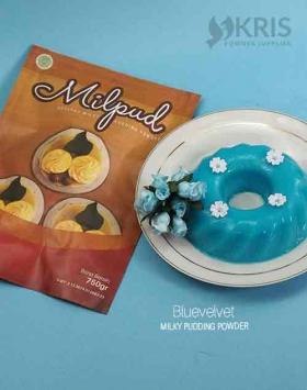 Bubuk pudding bluevelvet kemasan 750 gr Milpud