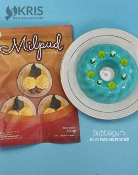 Bubuk pudding bubblegum kemasan 750 gr Milpud