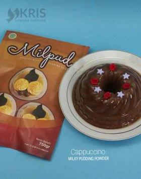 Bubuk pudding cappuccino kemasan 750 gr Milpud