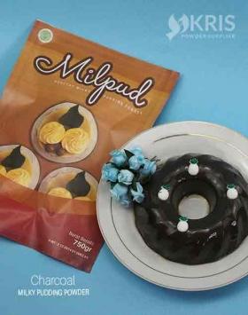 Bubuk pudding charcoal kemasan 750 Milpud
