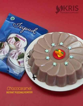 Bubuk pudding chococaramel kemasan 900 gr Inpud