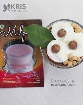 Bubuk pudding chococreamy kemasan 75 gr Milpud