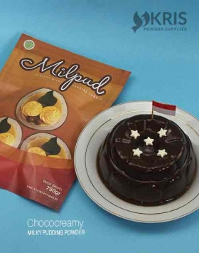 Bubuk pudding chococreamy kemasan 750 gr Milpud
