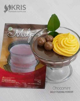 Bubuk pudding chocomint kemasan 75 gr Milpud