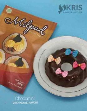 Bubuk pudding chocomint kemasan 750 gr Milpud