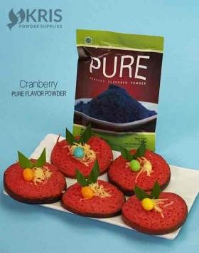 Bubuk perisa cranberry kemasan 50 gr Pure