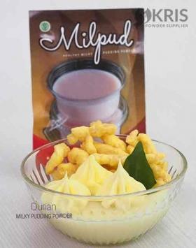 Bubuk pudding durian kemasan 75 gr Milpud