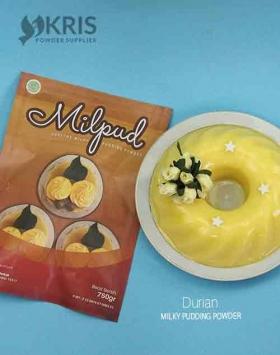Bubuk pudding durian kemasan 750 gr Milpud
