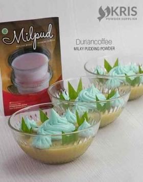 Bubuk pudding duriancoffee kemasan 75 gr Milpud