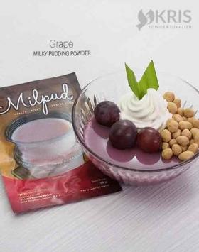 Bubuk pudding grape kemasan 75 gr Milpud