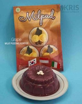 Bubuk pudding grape kemasan 750 gr Milpud