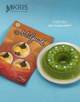 Bubuk pudding greentea kemasan 750 gr Milpud
