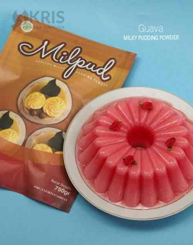 Bubuk pudding guava kemasan 750 gr Milpud