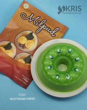 Bubuk pudding kiwi kemasan 750 gr Milpud