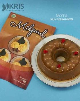 Bubuk pudding mocha kemasan 750 gr Milpud