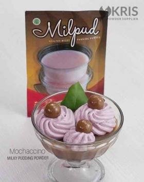 Bubuk pudding mochaccino kemasan 75 gr Milpud