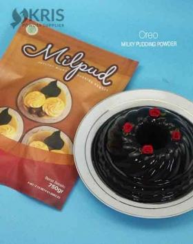 Bubuk pudding oreo kemasan 750 gr Milpud