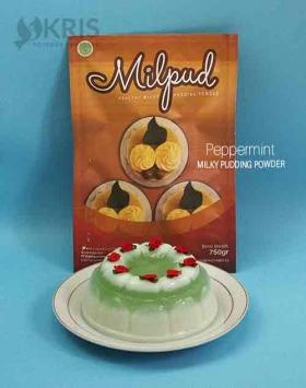 Bubuk pudding peppermint kemasan 750 gr Milpud