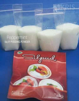 Bubuk pudding peppermint kemasan 650 gr Silpud