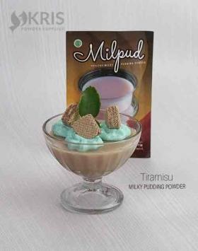 Bubuk pudding tiramisu kemasan 75 gr Milpud