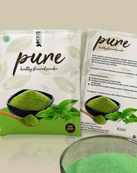 Bubuk perisa kiwi kemasan 1000 gr Pure