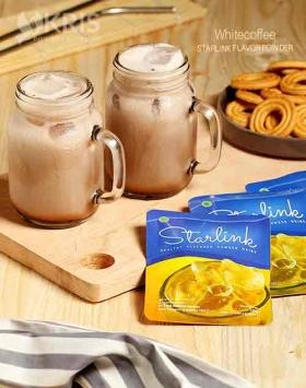Bubuk minuman whitecoffee starlink 25 gr