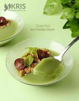 Bubuk pudding greentea kemasan 650 gr Silpud