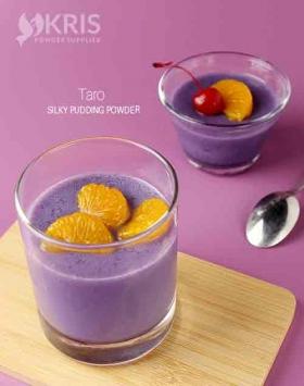 Bubuk pudding taro kemasan 650 gr Silpud